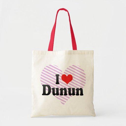 I Love Dunun Tote Bag