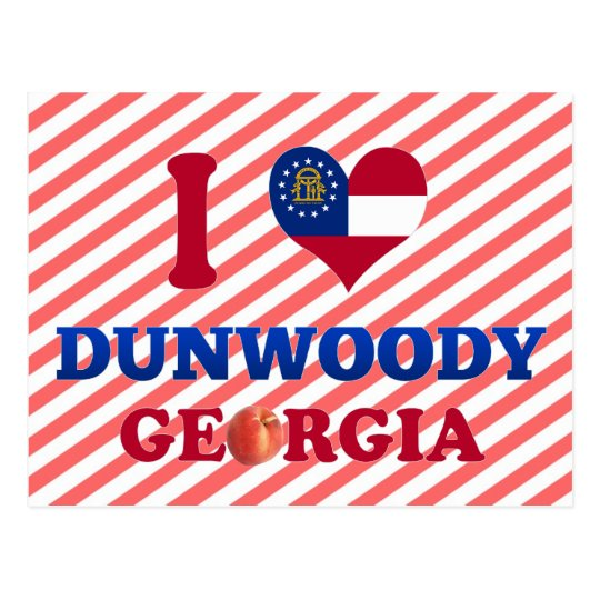 I Love Dunwoody, Georgia Postcard