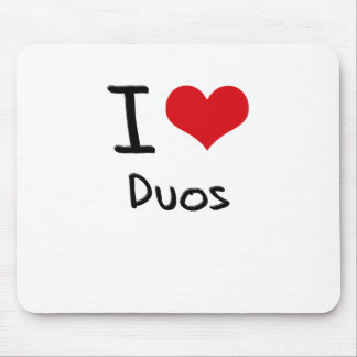 I Love Duos Mouse Pad