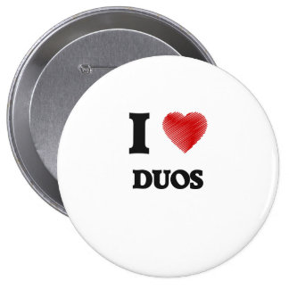 I love Duos Pinback Button