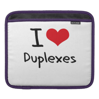 I Love Duplexes iPad Sleeve