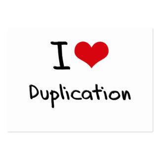 I Love Duplication Business Cards