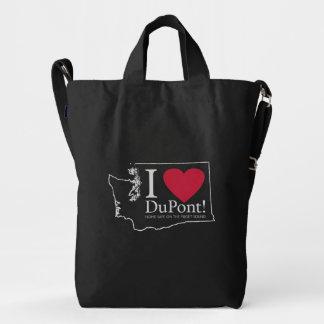I Love DuPont, WA backpack bag