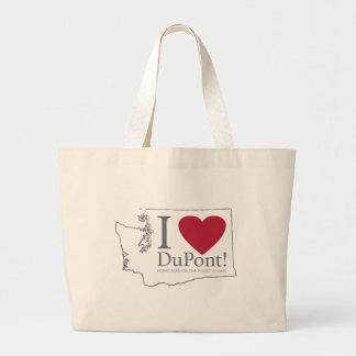 I Love DuPont, WA big tote bag