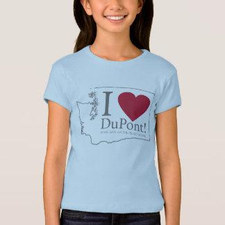 I Love DuPont, WA girl's shirt