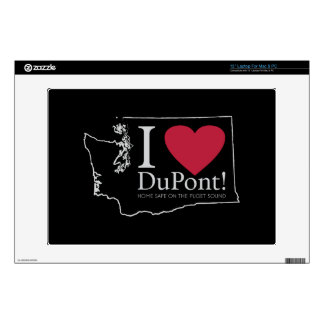 "I Love DuPont, WA skins, 13"" Decal For 13"" Laptop"