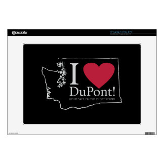 I Love DuPont, WA skins Decals For Laptops