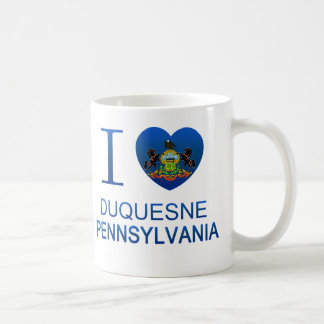 I Love Duquesne, PA Classic White Coffee Mug