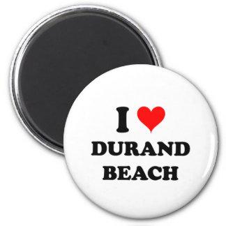 I Love Durand Beach Fridge Magnet