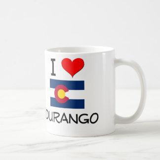 I Love DURANGO Colorado Classic White Coffee Mug