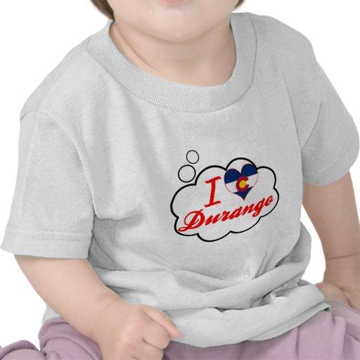 I Love Durango, Colorado Tee Shirt