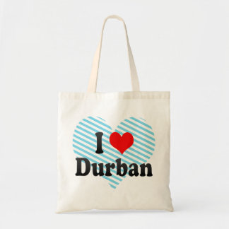 I Love Durban, South Africa Budget Tote Bag