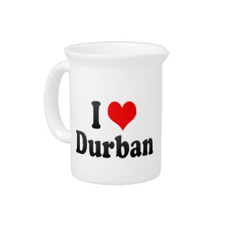 I Love Durban, South Africa Drink Pitchers