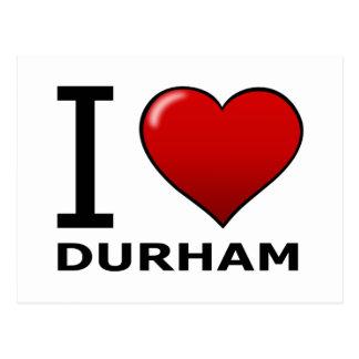 I LOVE DURHAM,NC - NORTH CAROLINA POSTCARD