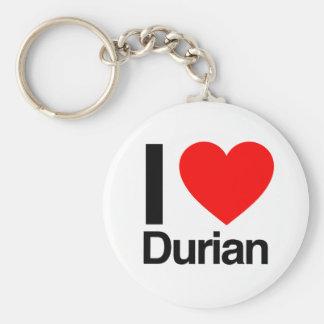 i love durian basic round button keychain