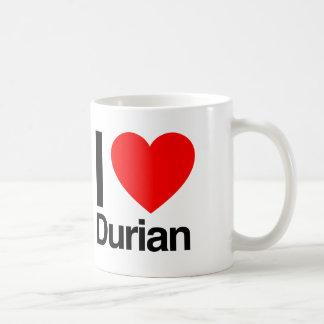 i love durian classic white coffee mug