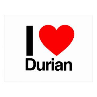 i love durian postcard