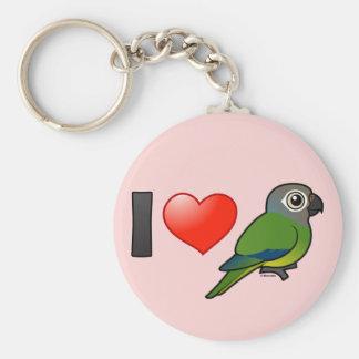I Love Dusky-headed Conures Keychain