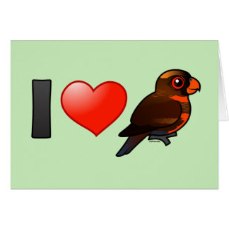 I Love Dusky Lories Greeting Cards