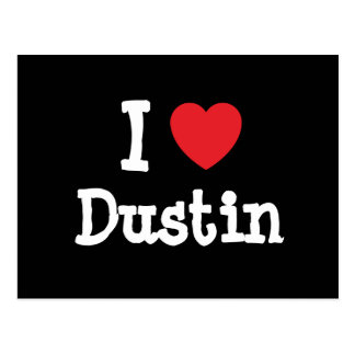 I love Dustin heart custom personalized Postcards