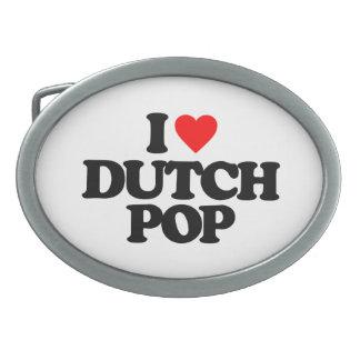 I LOVE DUTCH POP BELT BUCKLE