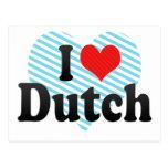 I Love Dutch Postcard