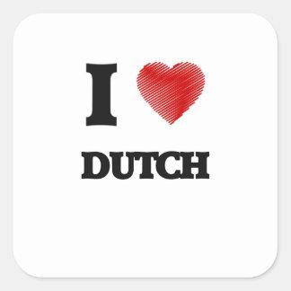 I love Dutch Square Sticker