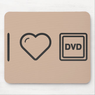 I Love Dvd Labels Mouse Pad
