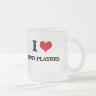 I love Dvd Players 10 Oz Frosted Glass Coffee Mug