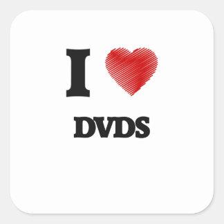 I love Dvds Square Sticker