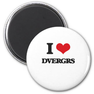 I love Dvergrs 2 Inch Round Magnet