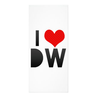 I Love DW Rack Card Design