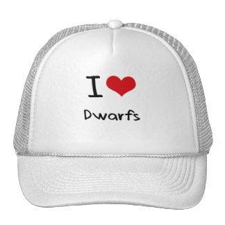 I Love Dwarfs Hats