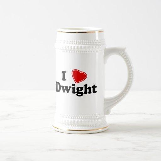 I Love Dwight 18 Oz Beer Stein