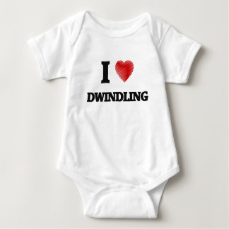 I love Dwindling Baby Bodysuit