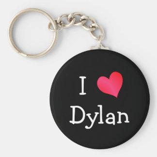 I Love Dylan Basic Round Button Keychain