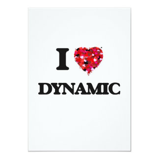 I love Dynamic 5x7 Paper Invitation Card