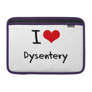 I Love Dysentery MacBook Sleeves