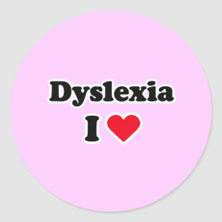 I love dyslexia stickers