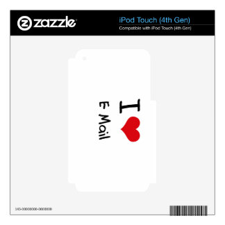 I love E-Mail iPod Touch 4G Decals