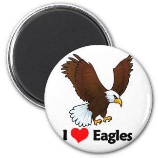 I Love Eagles 2 Inch Round Magnet