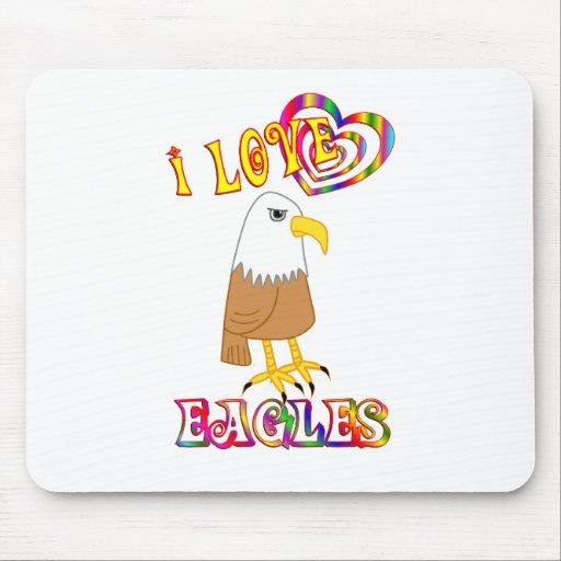 I LOVE EAGLES MOUSE PAD