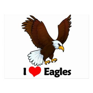 I Love Eagles Postcard