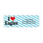 I Love Eagles Return Address Label