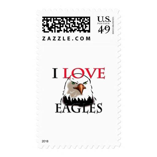 I Love Eagles Stamps