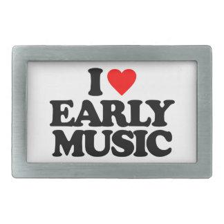 I LOVE EARLY MUSIC BELT BUCKLE