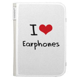 I love Earphones Kindle Cover