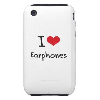I love Earphones Tough iPhone 3 Covers