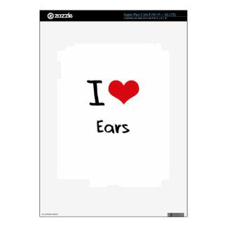 I love Ears iPad 3 Skins
