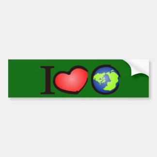I Love Earth Bumper Sticker